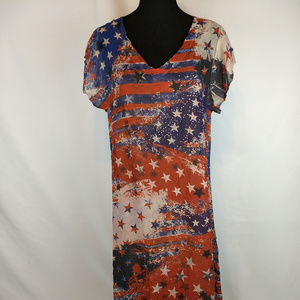 Cal Style patriotic dress with slip